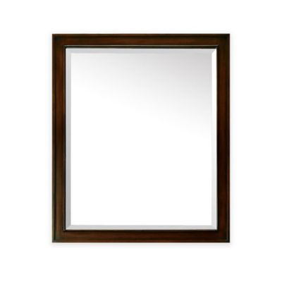 buy avanity madison 28 inch x 32 inch rectangular mirror in tobacco from bed bath beyond. Black Bedroom Furniture Sets. Home Design Ideas