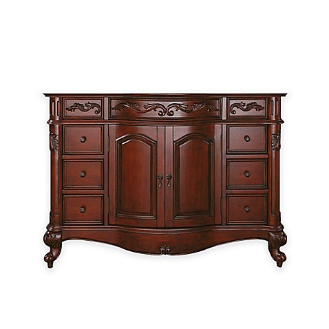 buy avanity provence 48 inch vanity cabinet base in antique cherry from bed bath beyond. Black Bedroom Furniture Sets. Home Design Ideas