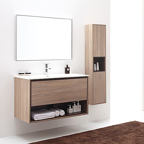 Avanity Sonoma 39 Inch Wall Mount Single Vanity Base In