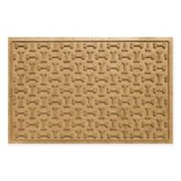 Weather Guard™ 23-Inch x 35-Inch Dog Treats Door Mat in Gold