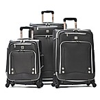 Olympia® USA Skyhawks 3-Piece 4-Wheel Spinner Suitcase Set in Black