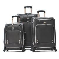 Olympia® USA Skyhawks 3-Piece 4-Wheel Spinner Suitcase Set in Black
