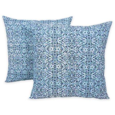 Arlee Decorative Body Pillow : Arlee Home Fashions Interlocking Trellis Printed Throw Pillows (Set of 2) - Bed Bath & Beyond