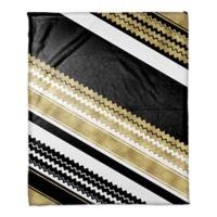 Chevron Layered Throw Blanket in Gold/Black