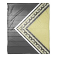 Gradient Angled Throw Blanket in Grey/Yellow