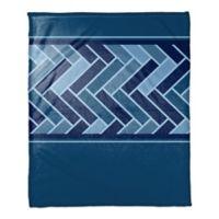 Tile Pattern Throw Blanket in Navy