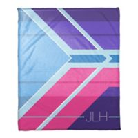 Bright and Bold Throw Blanket in Purple/Pink/Blue