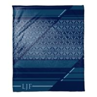 Geo Personalized Throw Blanket in Navy