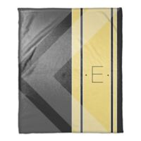 Multi Shade Personalized Throw Blanket in Yellow/Grey