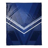 Deco Color Block Throw Blanket in Navy
