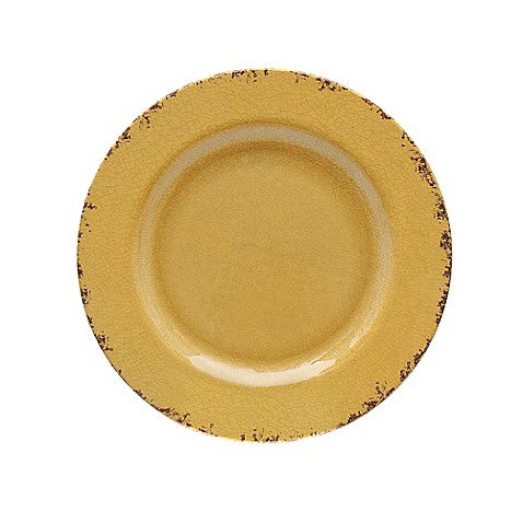 Crackle Melamine Dinner Plate in Yellow  sc 1 st  Bed Bath \u0026 Beyond & Crackle Melamine Dinner Plate in Yellow - Bed Bath \u0026 Beyond