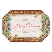 """Fitz and Floyd® Yuletide Holiday """"Merry Christmas"""" Appetizer Tray"""