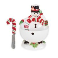 Fitz and Floyd® Top Hat Frosty Footed Bowl with Spreader