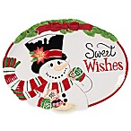 "Fitz and Floyd® Top Hat Frosty ""Sweet Wishes"" Cookie Platter"