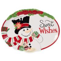 """Fitz and Floyd® Top Hat Frosty """"Sweet Wishes"""" Cookie Platter"""