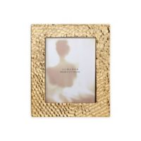 Lunares Santorini 5-Inch x 7-Inch Frame in Gold