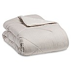The Seasons Collection® Flannel Reversible King Comforter in Taupe Stripe