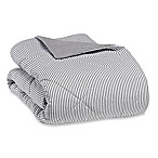 The Seasons Collection® Flannel Reversible King Comforter in Grey Stripe