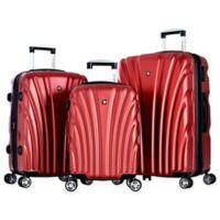 Olympia® USA Vortex 3-Piece Hardcase Spinner Suitcase Set in Wine