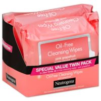 Neutrogena® Twin Pack 25 Count Oil-Free Cleansing Wipes in Pink Grapefruit