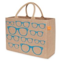 Jute Sunglasses Market Tote Bag in Blue