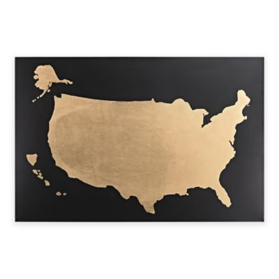 Us Map Wall Art buy map wall art from bed bath & beyond