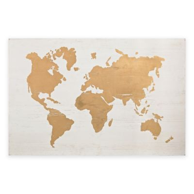 Buy World Map Wall Decor From Bed Bath Amp Beyond