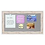 Alexandria Whitewash Framed 12-Inch x 24-Inch Magnetic Board