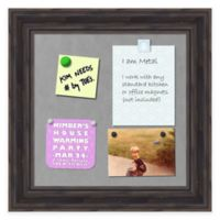 Rustic Pine Framed 12-Inch x 12-Inch Magnetic Board