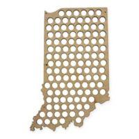 Beer Cap Map of Indiana