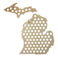 Beer Cap Map of Michigan