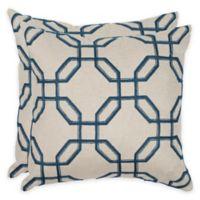 Safavieh Hayden 22-Inch Square Throw Pillows in Indigo (Set of 2)