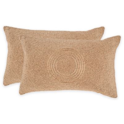 Safavieh Cleopatra Throw Pillow in Old Gold (Set of 2) - Bed Bath & Beyond