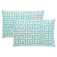 Safavieh Chy Throw Pillow in Aqua Blue (Set of 2)