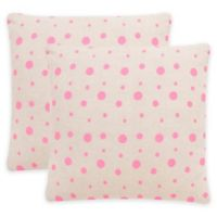 Safavieh Candy Buttons Throw Pillow in Pink Sugar (Set of 2)