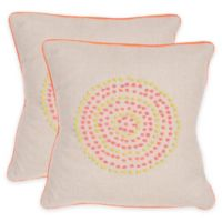 Safavieh Love Knots Throw Pillow in Neon Rainbow (Set of 2)