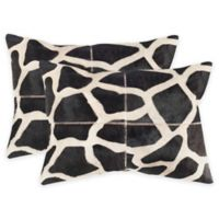 Safavieh Antonio Throw Pillow in Black/White (Set of 2)