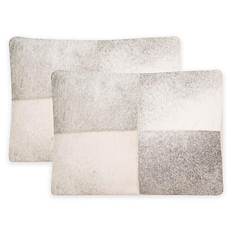 Safavieh Levar Throw Pillow in Grey (Set of 2) - Bed Bath & Beyond