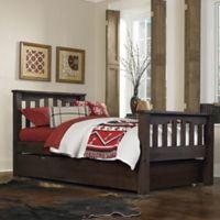 NE Kids Highlands Harper Twin Bed with Trundle in Espresso