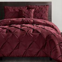 VCNY Carmen 4-Piece King Comforter Set in Burgundy