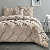 VCNY Carmen 3-Piece King Duvet Cover Set in Taupe