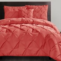 VCNY Carmen 3-Piece King Duvet Cover Set in Coral