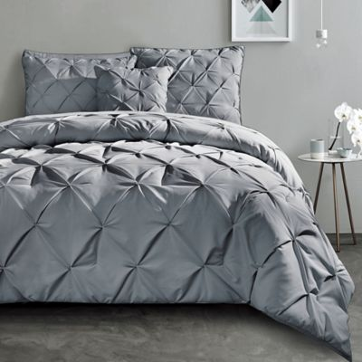 King Comforter Sets Gray Milena Gray 7 Pc Fullqueen