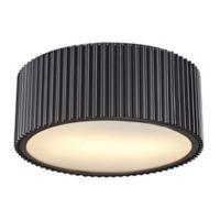 ELK Lighting Brendon 2-Light Flush-Mount Ceiling Fixture in Oil Rubbed Bronze