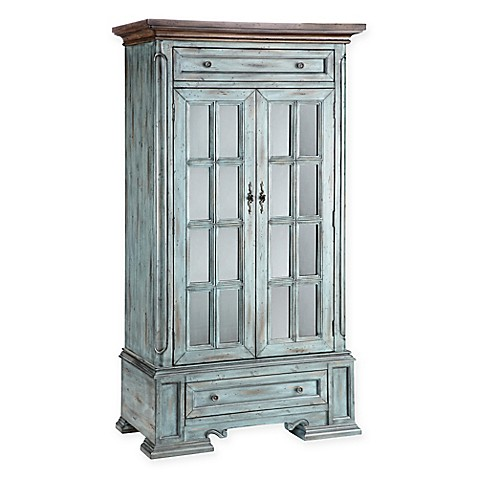 stein world hartford antique accent cabinet in blue is not available