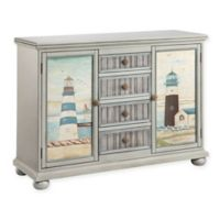 Stein World Hatteras Accent Cabinet in Grey