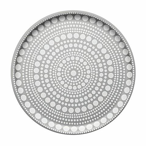 iittala kastehelmi 14 inch round tray in grey bed bath beyond. Black Bedroom Furniture Sets. Home Design Ideas
