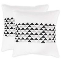 Safavieh Geo Mountain Square Throw Pillows in Slate (Set of 2)