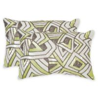 Safavieh Ricci Oblong Throw Pillows in Macaroon Green (Set of 2)