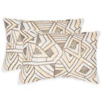Safavieh Ricci Oblong Throw Pillows in Sapphire Yellow (Set of 2)